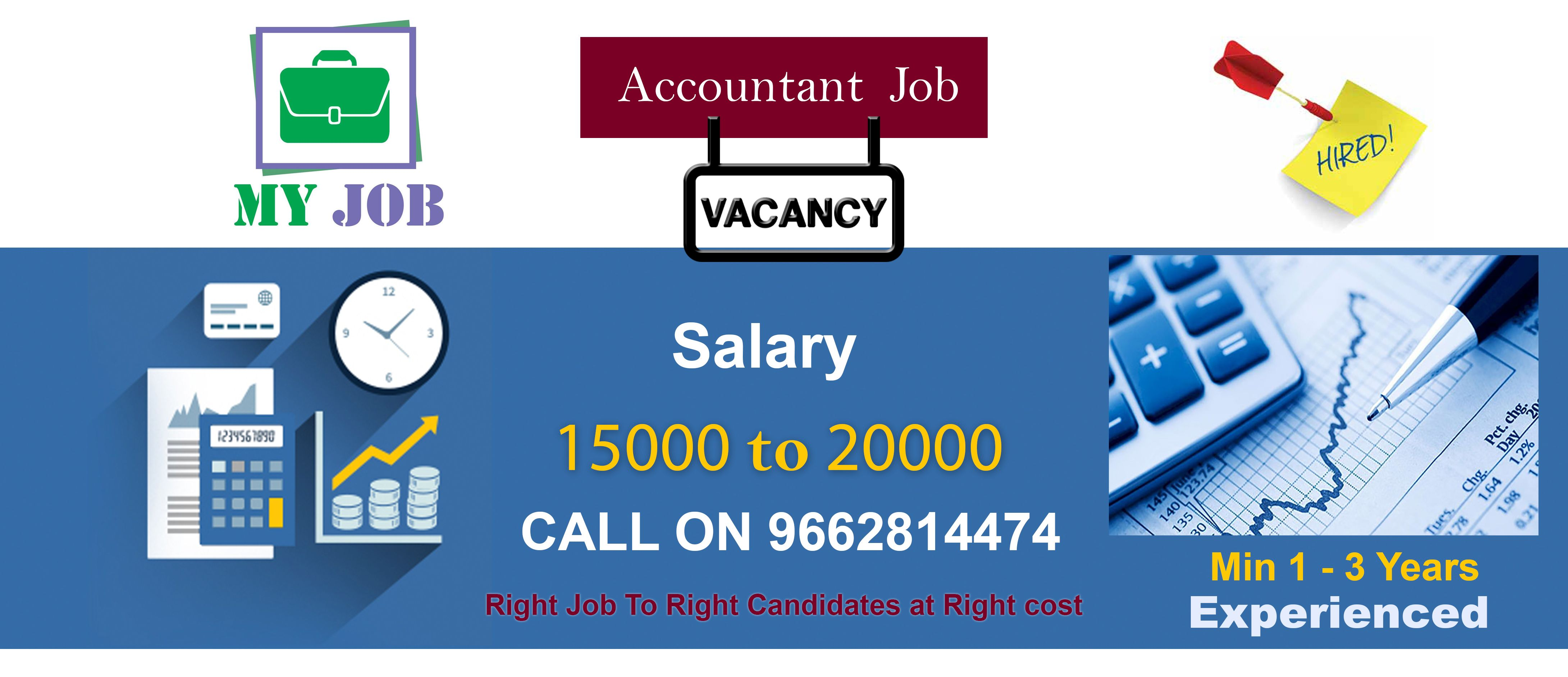Accountant job for experienced in accountant and tally