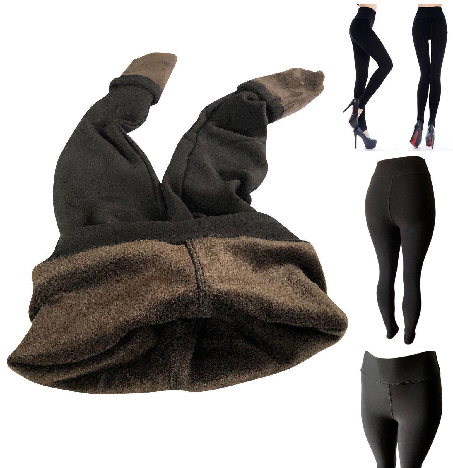 3ea61e74cf14ee Leggings 169001: Women Winter Fleece Fur Lined Extra Warm Thick Thermal  Leggings Active Pants -> BUY IT NOW ONLY: $13.99 on #eBay #leggings #women  #winter ...