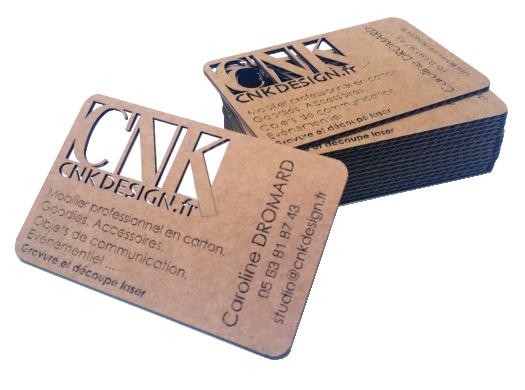 Cartes De Visite En Carton By CNK Design Cnkdesignfr