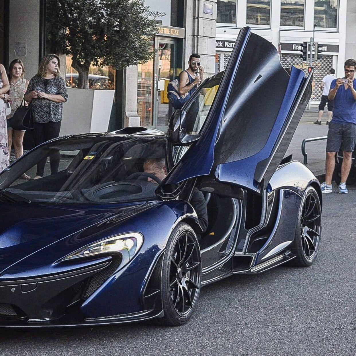 McLaren P1 Painted In Dark Blue Photo Taken By: @ll