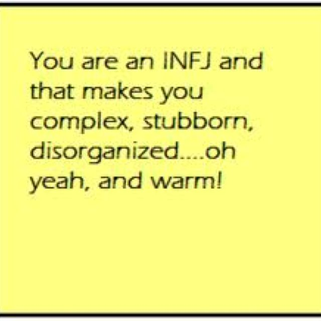 No four letters describe me better. Myers-Briggs Personality Type Indicator