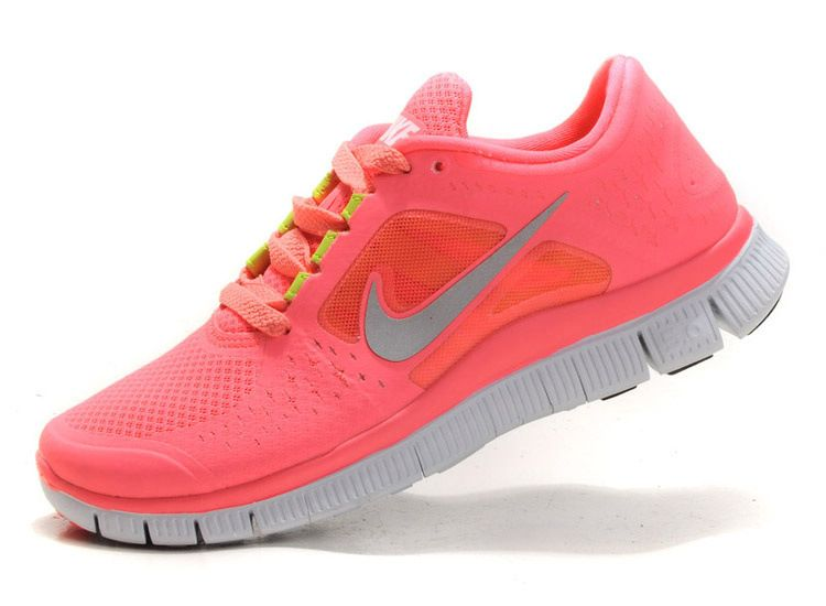 newest 11a74 02f0b Hot Punch Nike Free Run 3 Chaussures de Course Femme Coral Rose QX141