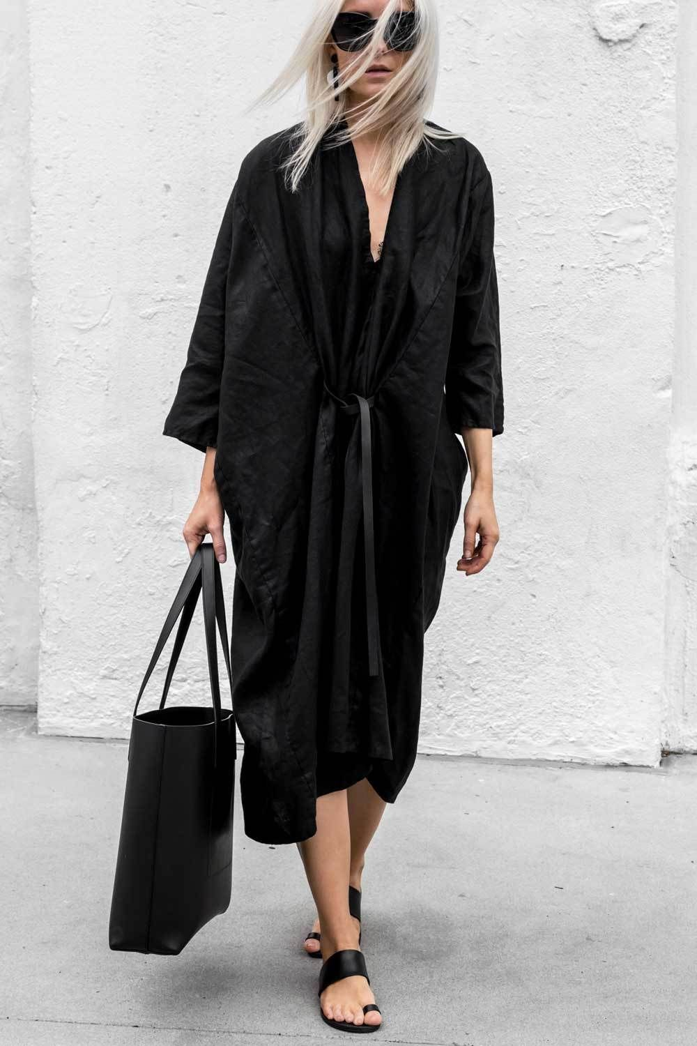 Miranda bennett studio oukeeffe dress street styles black and summer