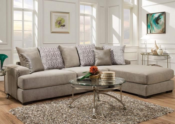 Underpriced Furniture Fusion Platinum Sectional  Furniture