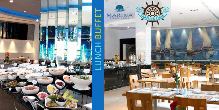Visit Marina Byblos Hotel for a sumptuous lunch buffet including access to the rooftop pool and gym for just AED 45 per person (Value AED 105)
