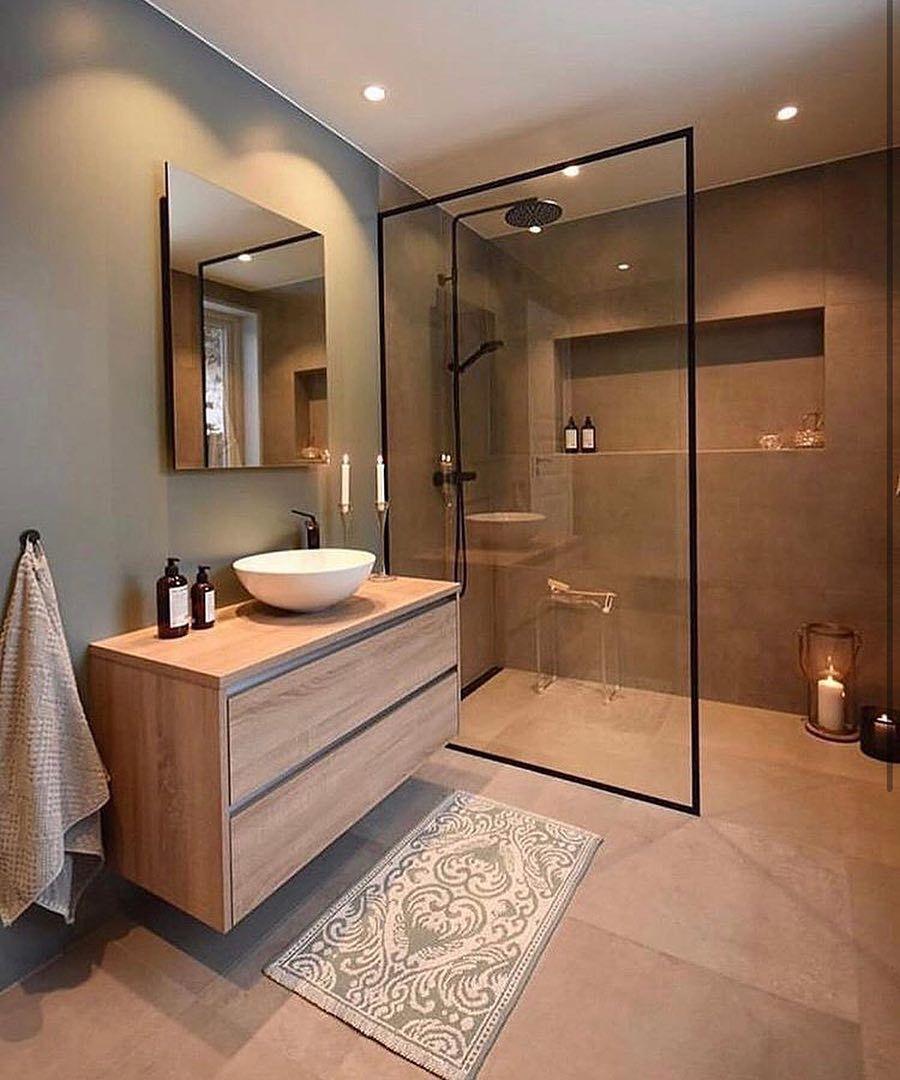Camila Kist Interiores On Instagram Banheiro Com Composicao Moderna E Minimalista Usando De Banheiros Modernos Banheiros Luxuosos Ideias Para Casas De Banho