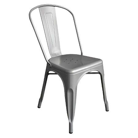 Set Of 2 Garvin Dining Chair Galvanized Steel Aeon With Images