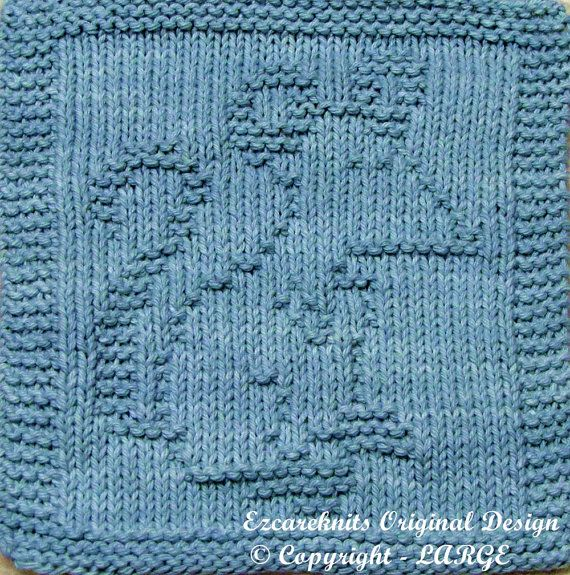 Knitting Cloth Pattern - PAPA MOUSE - PDF | Stricken, Handarbeiten ...