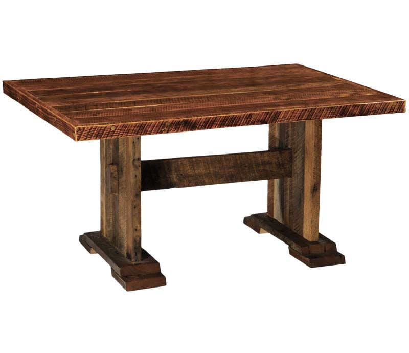 Barnwood Harvest Dining Table Western Dining Tables  Trestle Adorable Western Style Dining Room Sets Inspiration