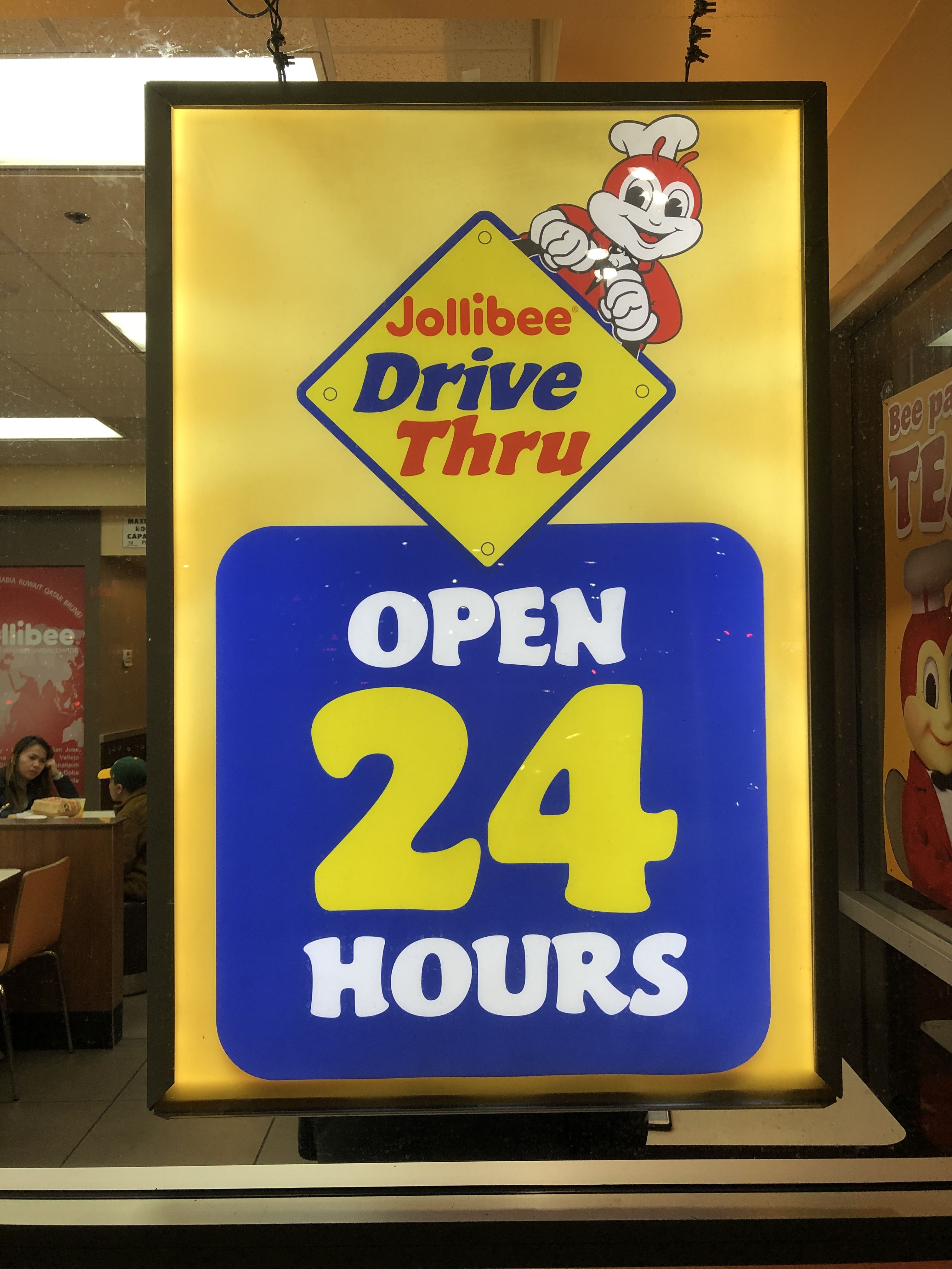 Jollibee S Drive Thru In Union City Open 24 Hours Jollibee Open 24 Hours Union City