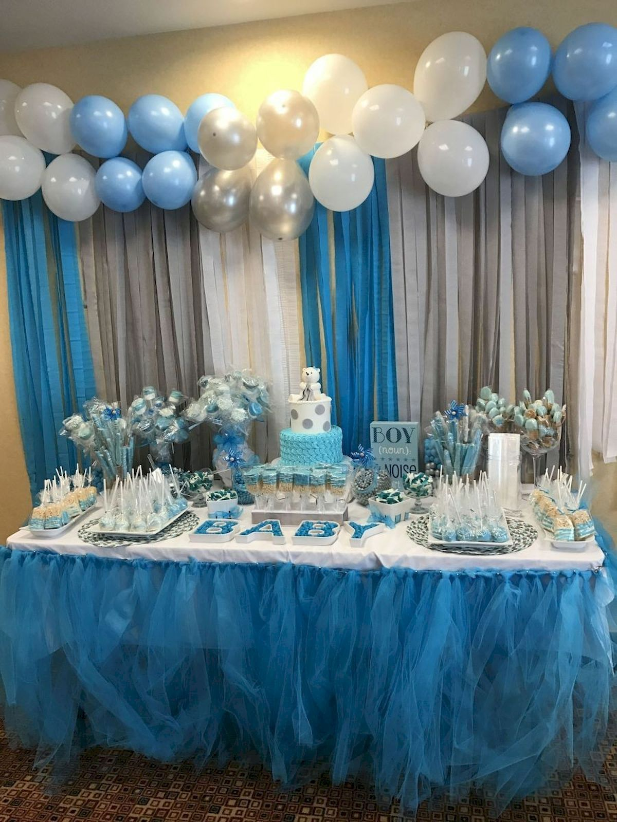 Adorable 50 Awesome Baby Shower Themes And Decorating Ideas For Boy Source Https Rontsen Co Baby Shower Menu Baby Shower Decorations Decoracion Baby Shower