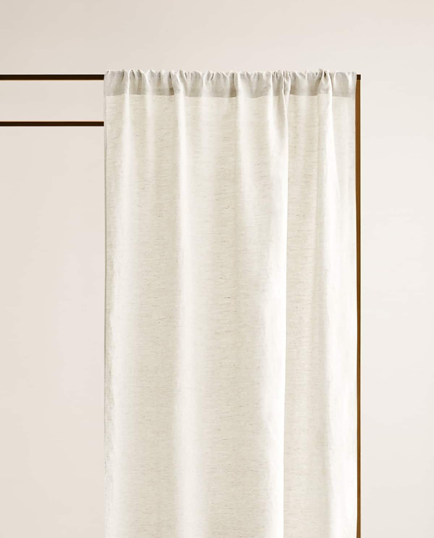 Gardine Aus Gewaschenem Leinen Leinenvorhang Vorhange Vorhange