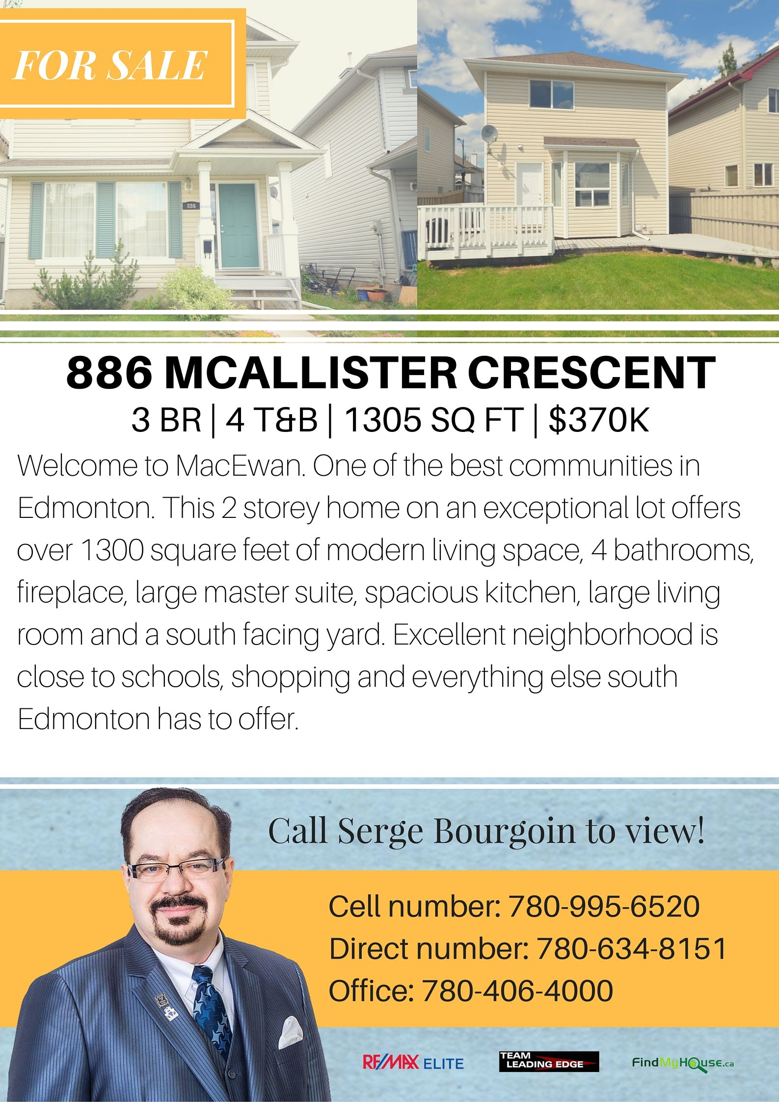 886 Mcallister Crescent MacEwan Edmonton Home For Sale MLS Listings