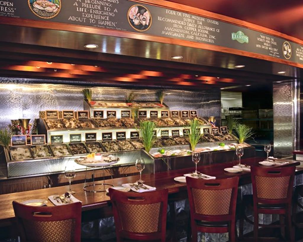 Restaurant oyster bar hospitality interior design of