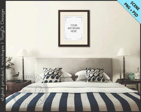 bedroom styled interior dark wood frame portrait 11x14 picture hobby lobby walmart amazon