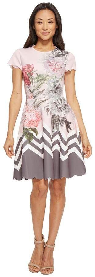 eaecf11c3 Ted Baker - Haiilie Palace Gardens Ruffle Skater Dress Women s Dress ...