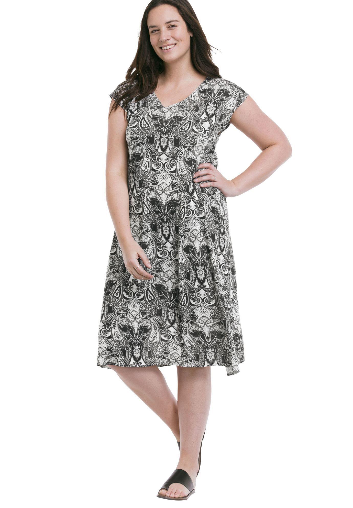 04ab28e36ea0 Paisley T-Shirt Dress by Ellos® - Women's Plus Size Clothing ...
