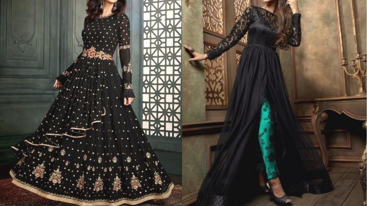 Black party wear suits black gown designs black dress designs