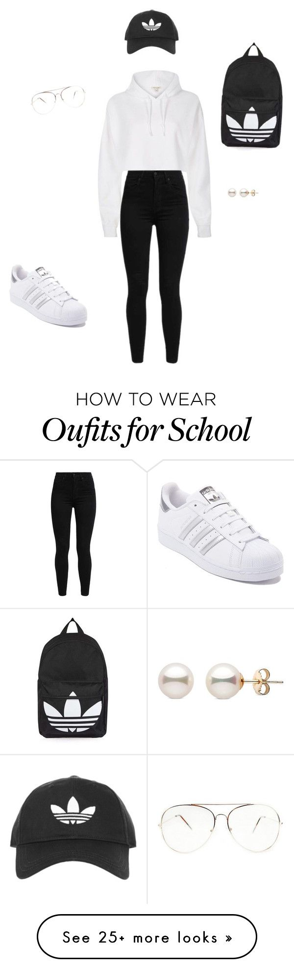 """I lil school , or work out look"" by genesisemuedue on Polyvore featuring River Island, Topshop, Levi's and adidas"