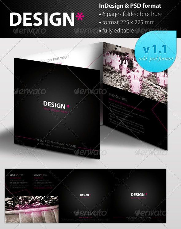 Square Trifold Brochure Design Pinterest Brochures - Brochure design templates indesign