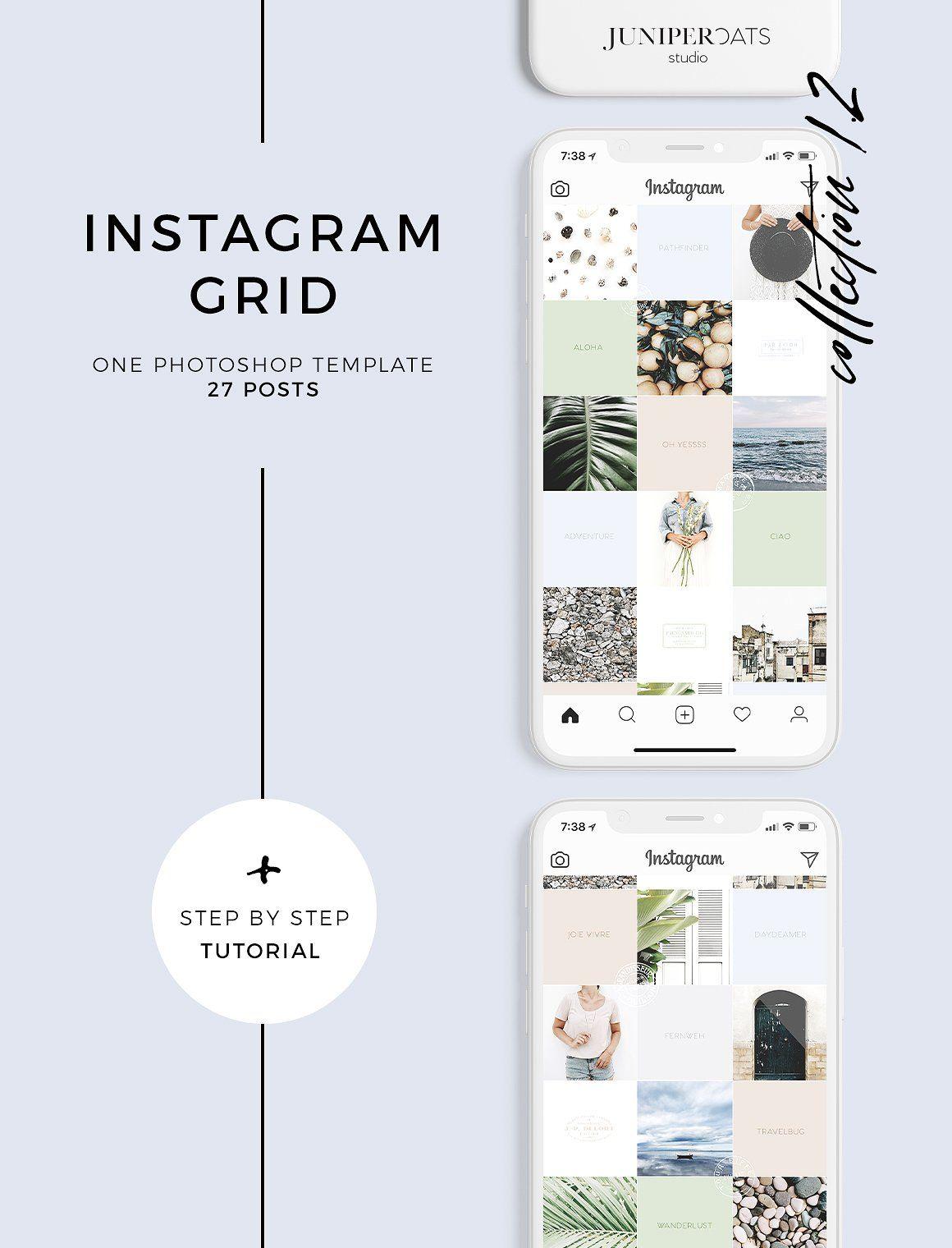 SALE !!! Instagram Grid Template
