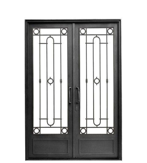 Puerta doble hoja recta nuestra casa pinterest front doors wrought iron and doors - Puertas doble hoja ...
