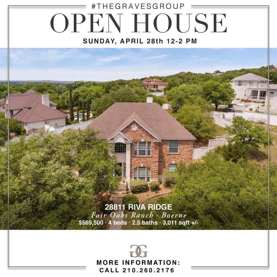 Join us tomorrow for our OpenHouse in Boerne at 28811