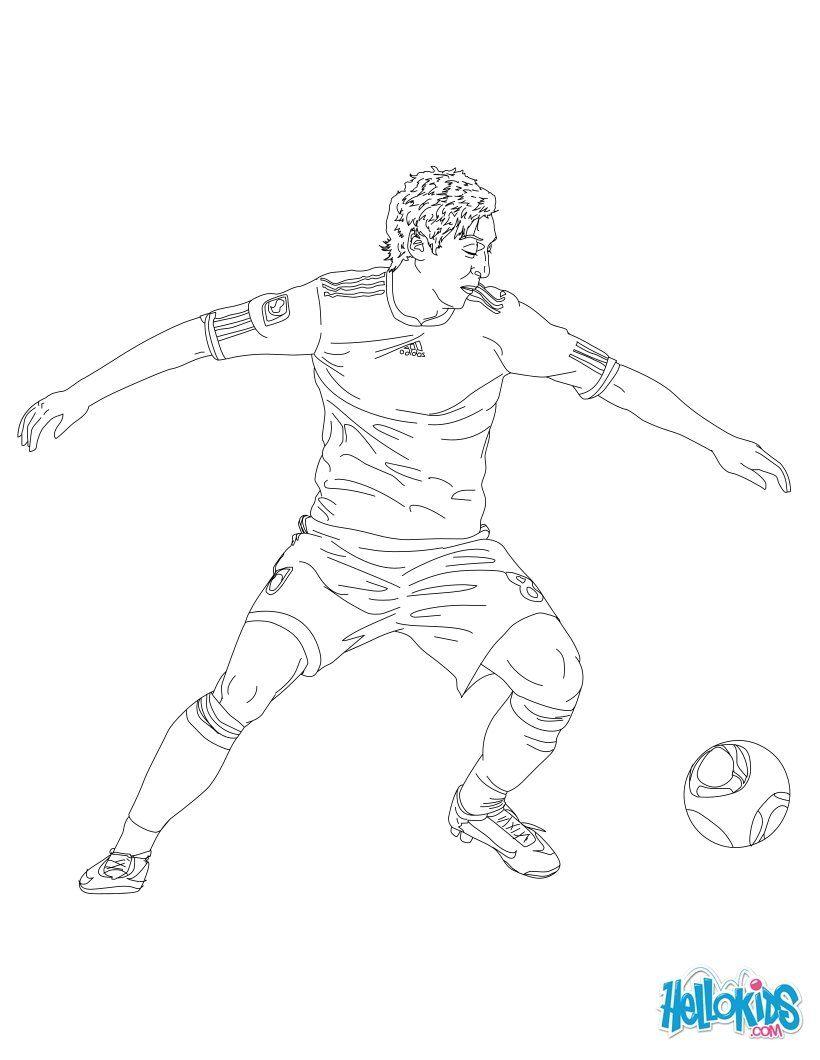 Mesut Ozil Coloring Page Tegninger Fodbold