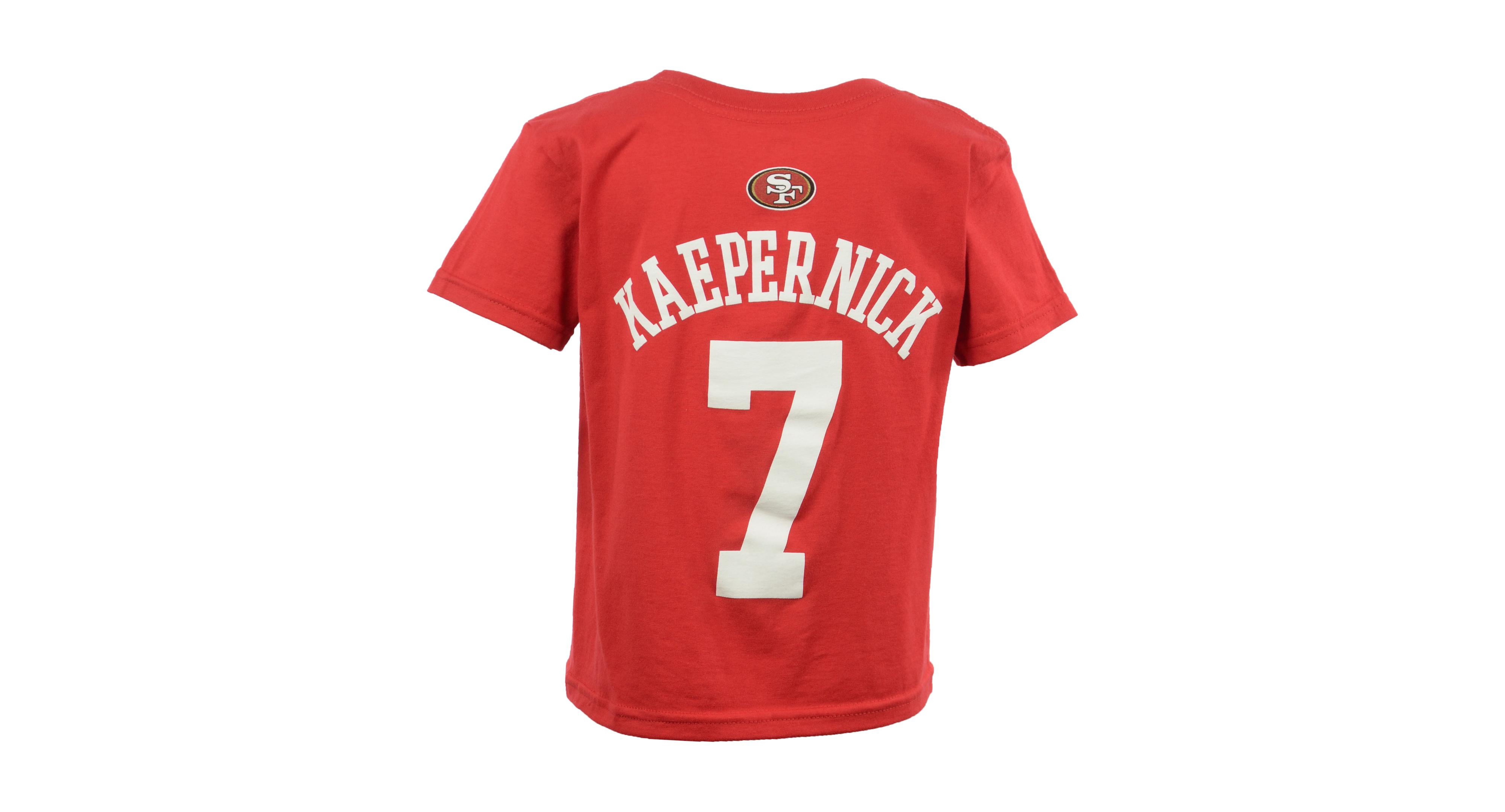 c766880a0 Outerstuff Boys' Colin Kaepernick San Francisco 49ers Mainliner Player T- Shirt