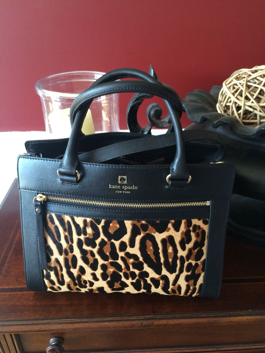 Kate Spade Perry Lane Romy Calf Hair Leopard Purse