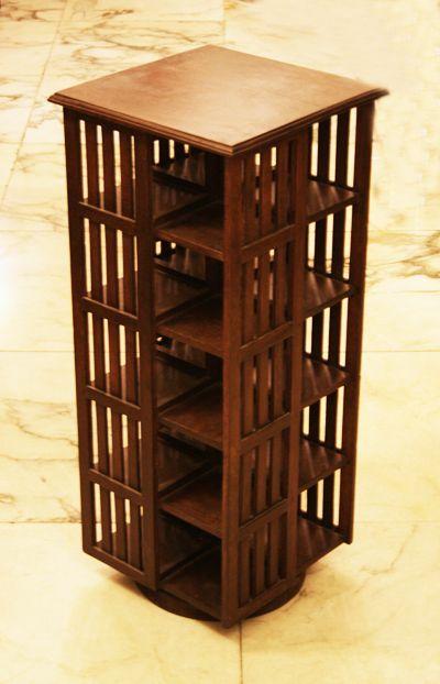 Porta cd girevole in legno. Cm.32,5x32,5 H.77. http://www ...