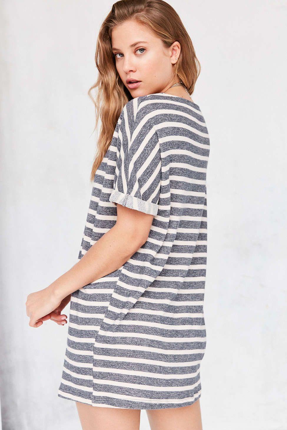bed61894d3e BDG Terry Stripe T-Shirt Dress | Clothes I Want | Striped t shirt ...