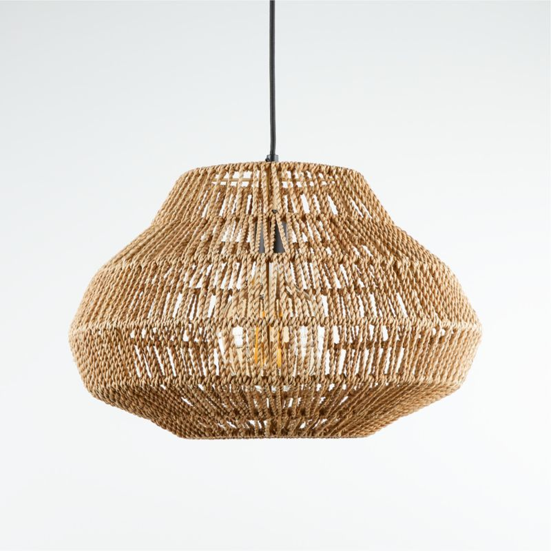 Cabo Small Woven Pendant Light Crate And Barrel Small Pendant
