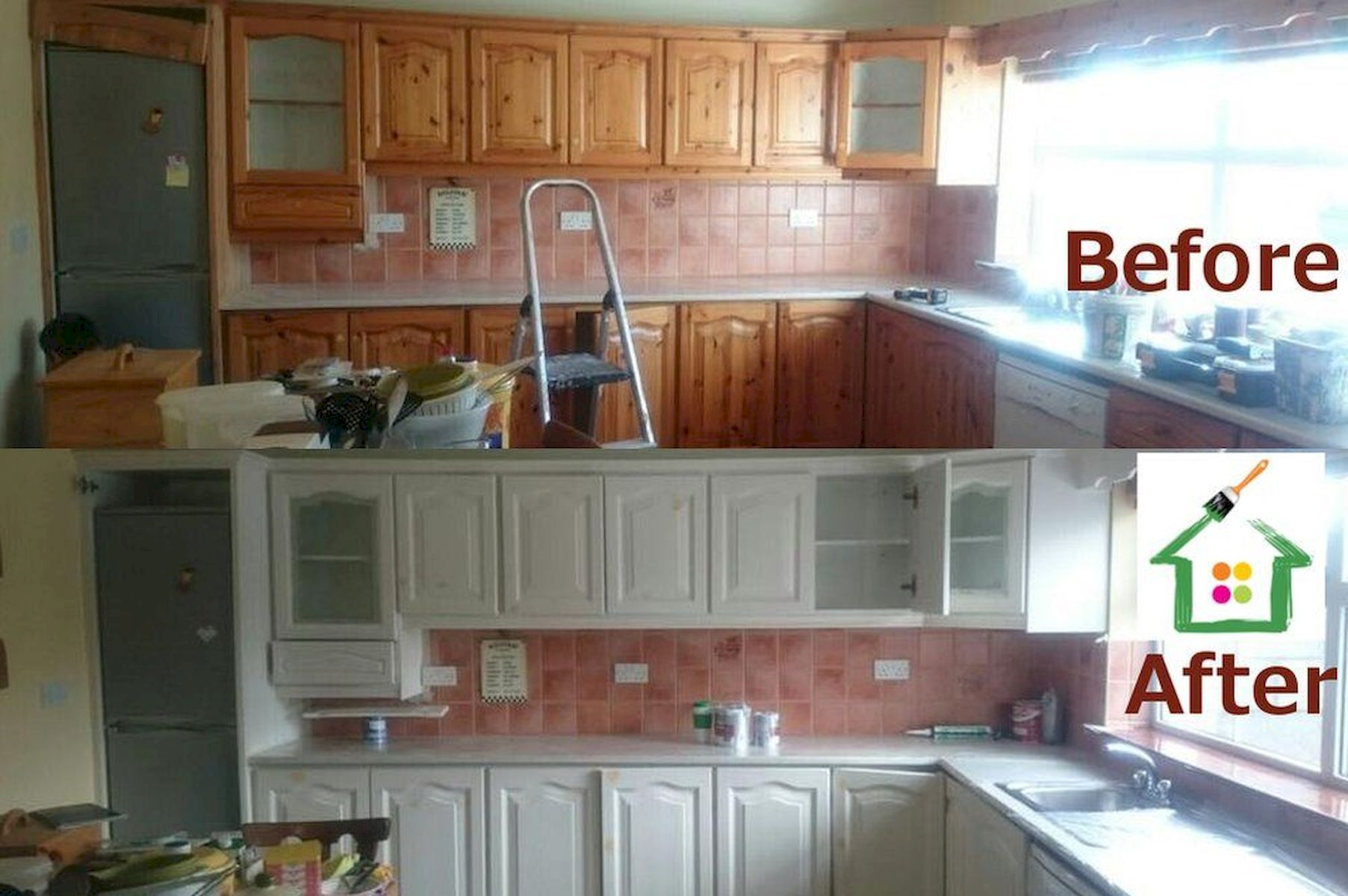 Before & After Painted Kitchen Idea home design