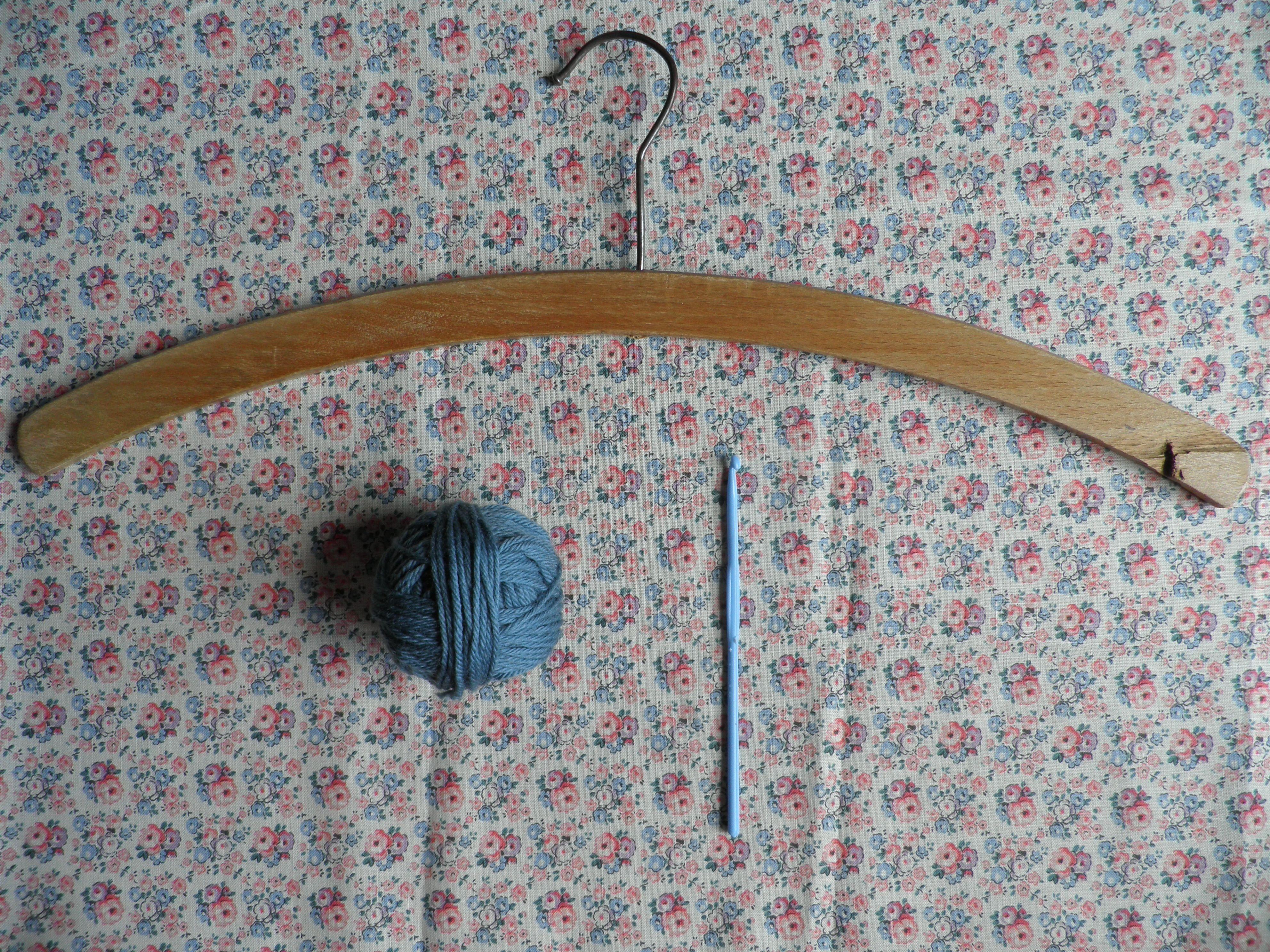 How to make a crochet coat hanger cover - Mollie Makes | Crochet ...