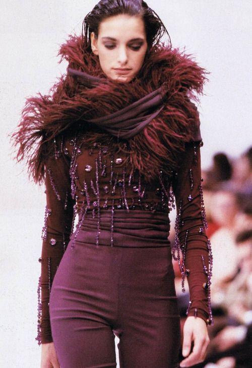55869de4fe08 80s-90s-supermodels Dolce   Gabbana F W 1990  91Model  Leslie Navajas