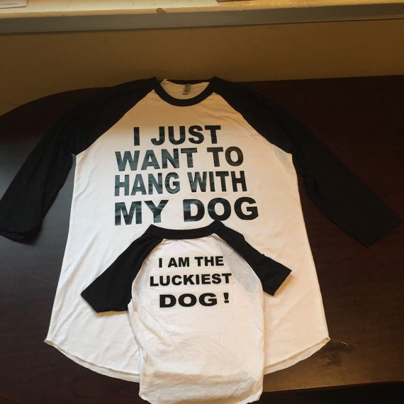 d4eb29e3 Matching T-shirt for Owner and Dog. by MyChildsDesigns on Etsy ...