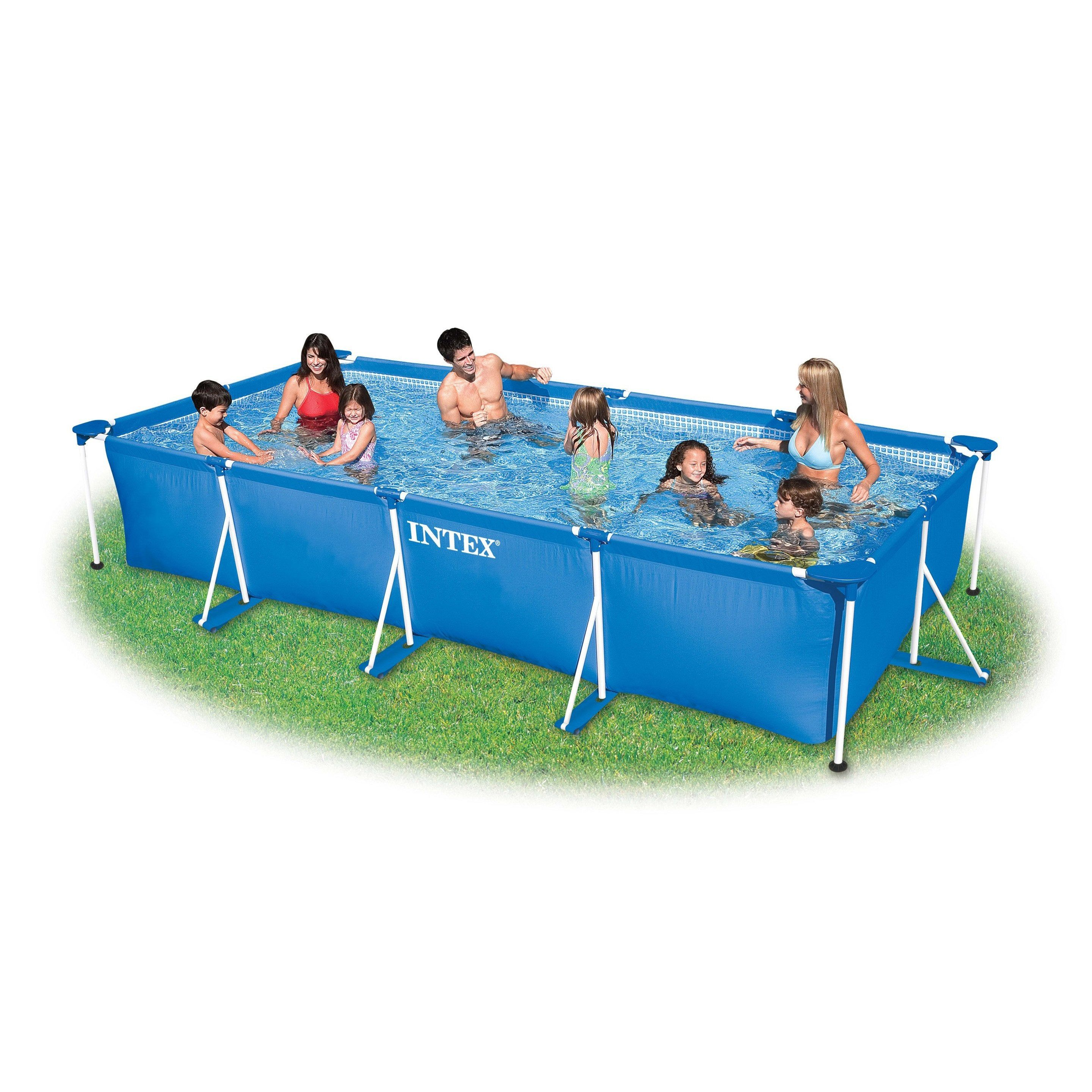 Piscine Hors Sol Autoportante Tubulaire Metal Frame Intex L 4 50xl