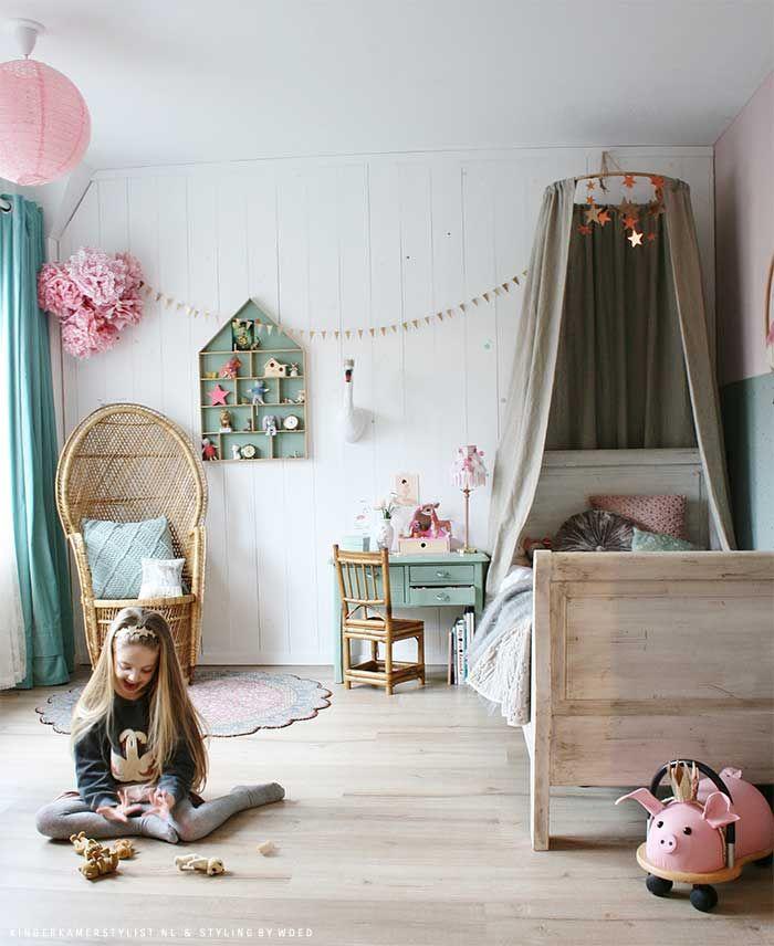 Meisjes slaapkamer ideeen | Kinderkamerstylist | Baby | Pinterest ...