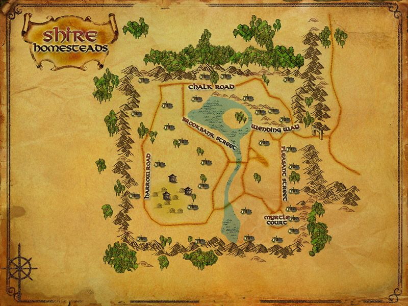 lotro map of the shire homesteads i live on myrtle court lord