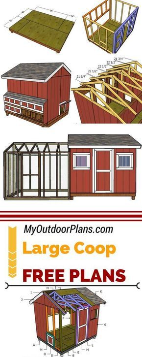 Learn How To Build A Large Chicken Coop So You Can Raise Up To 20