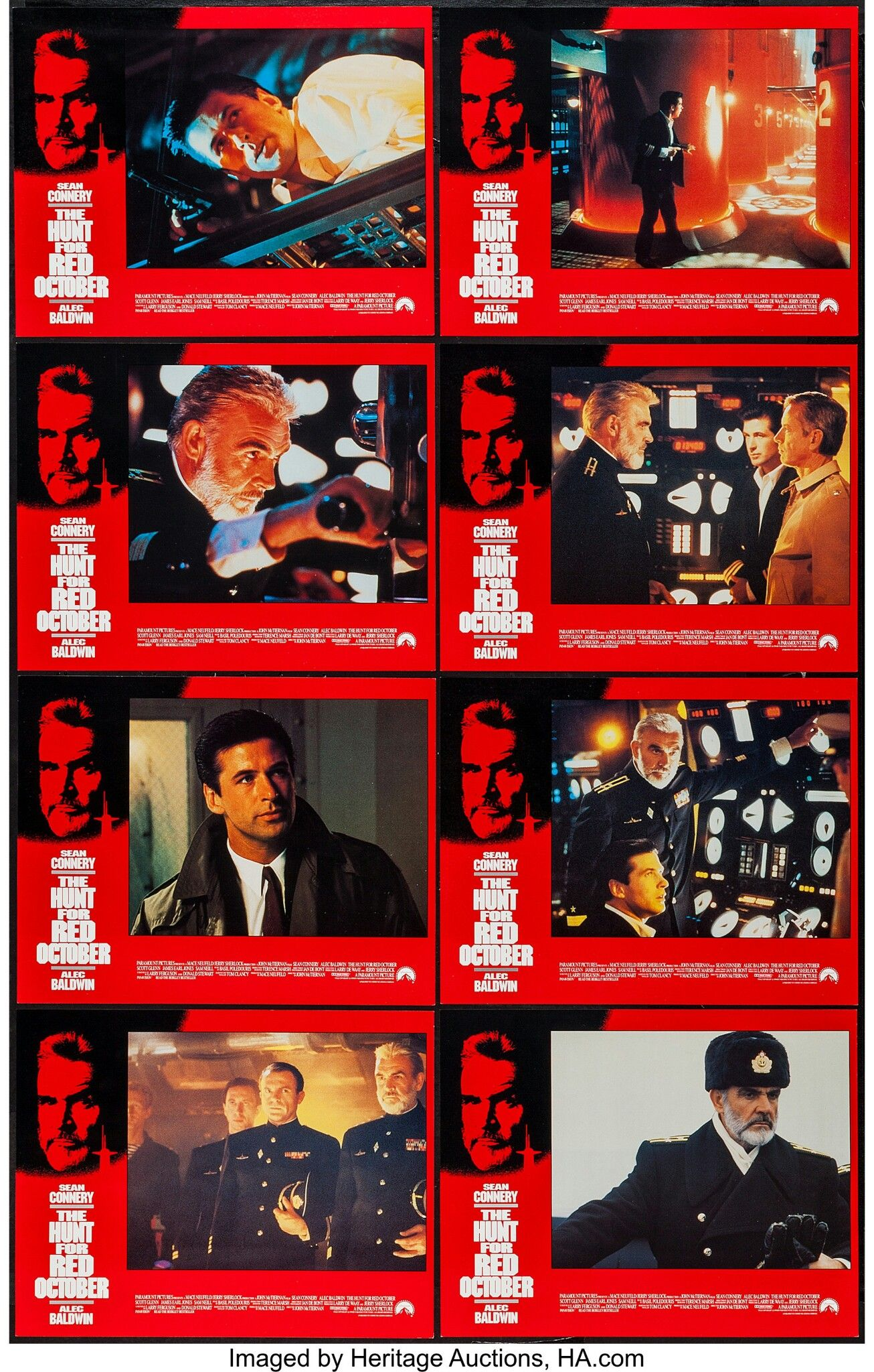 THE HUNT FOR RED OCTOBER (1990) Movie lobby cards, Lobby