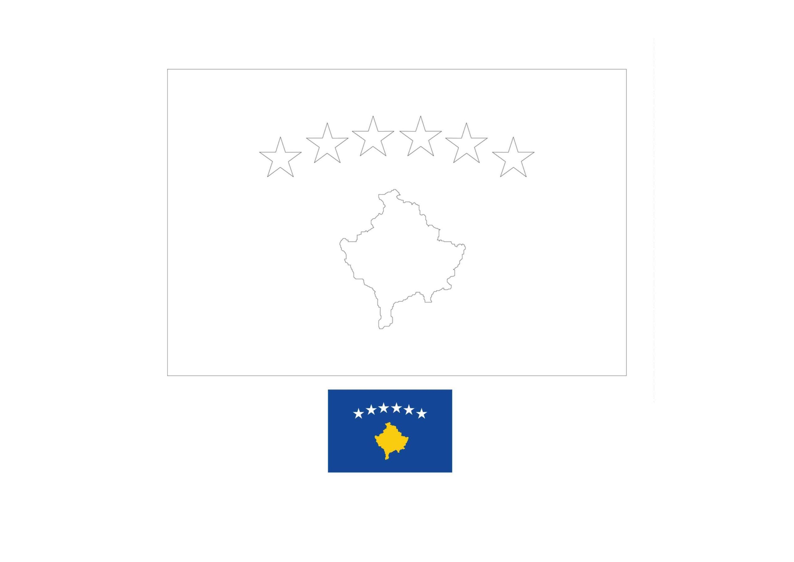 Kosovo Flag Coloring Page In 2020 Flag Coloring Pages Coloring