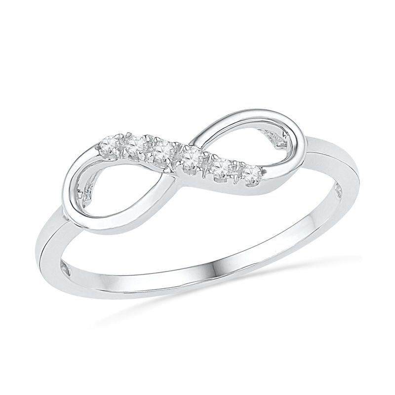 Diamond Accent Infinity Ring In 10K White Gold   View All Rings   Zales