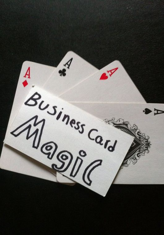 Yeeeha Teach You 3 Business Card Magic Tricks Use These To Stand