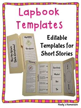 Lapbook Templates For Reading  Template School And Homeschool
