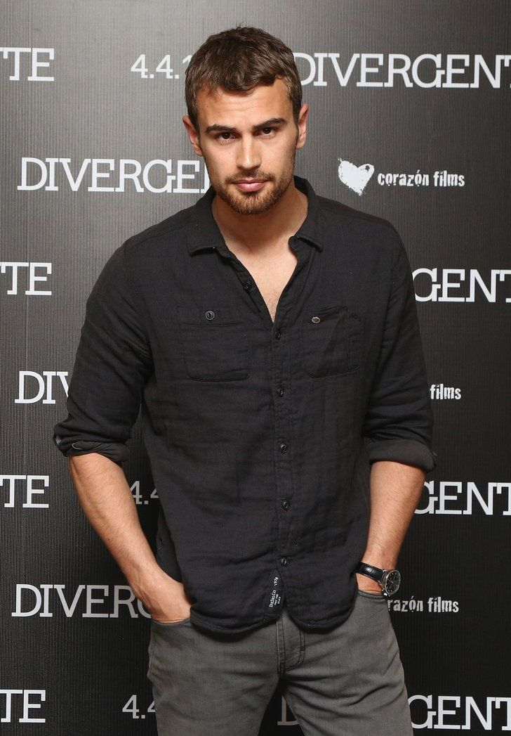 Celebrity & Entertainment | 14 Theo James Stares So Sexy, You Might Have to Look Away