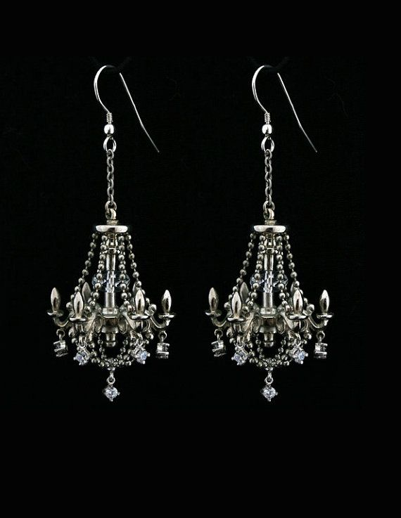 Metal Couture Sterling Silver Chandelier Drop Earrings bSpOXhvjLi