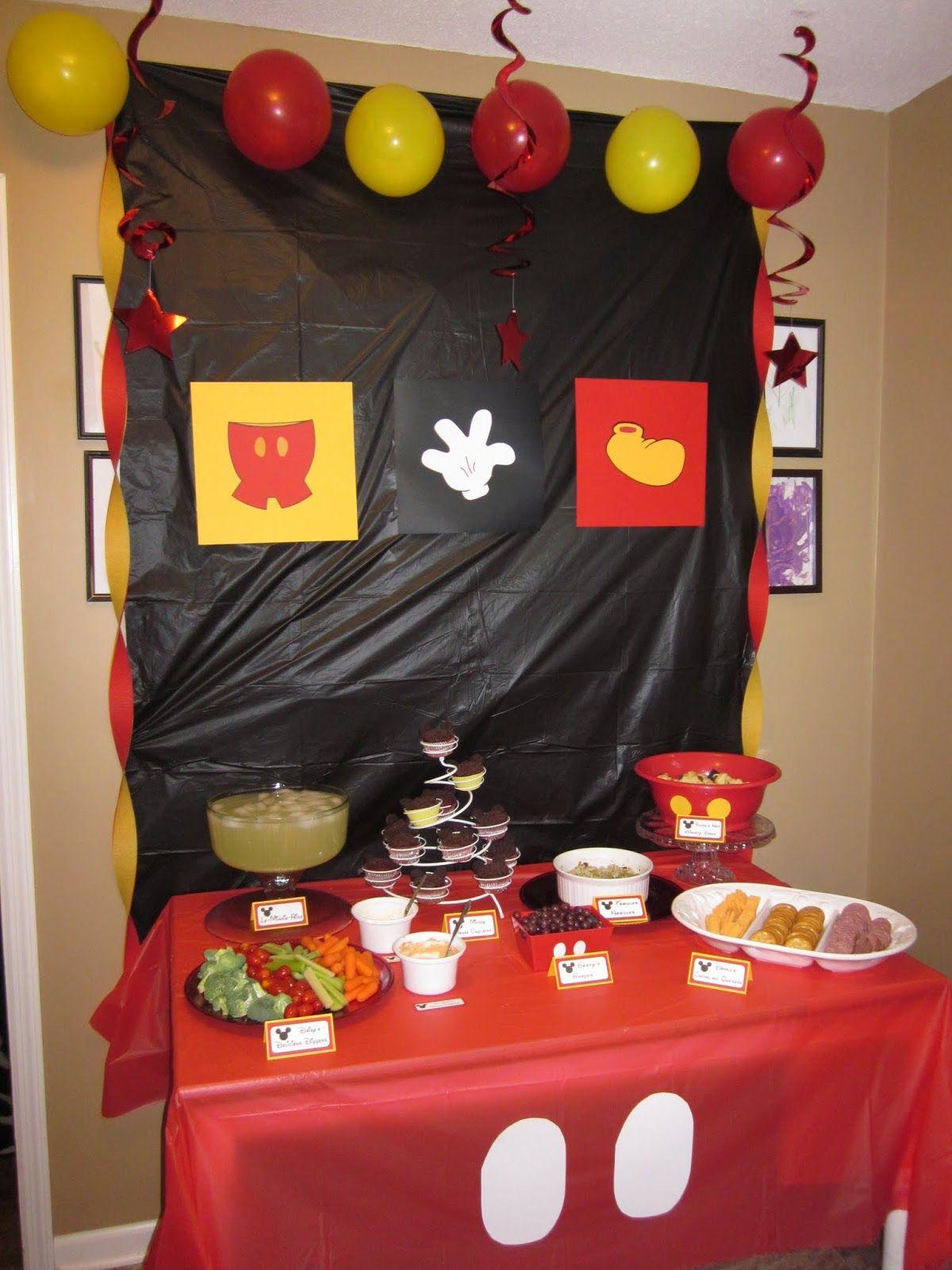 Decoraci n fiesta mickey mouse con los botones del - Decoracion para fiestas infantiles mickey mouse ...