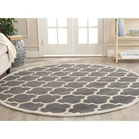 7 Foot 10 Inch Round Rug Black And White Google Search Purple Area Rugs Wool Area Rugs Grey Wool Rugs